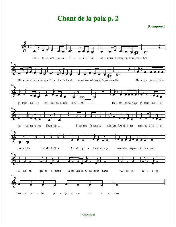 partition chanteur francais